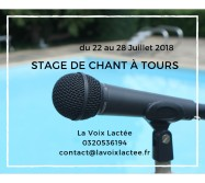 stage de chant été 2018 proche de Tours