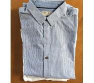 chemise bleue Zara