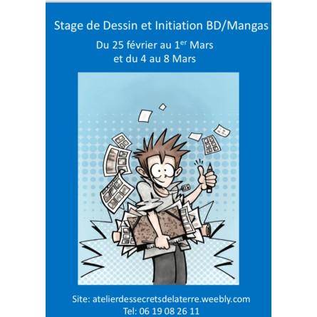 stage de dessin / bd managas vacances fevrier paris