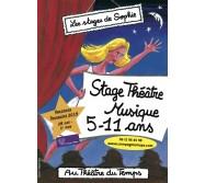 Stage 5-11 ans Théâtre/Musique vacances Toussaint 2019
