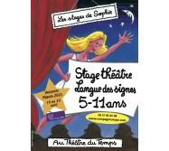 Stage 5-11 ans Théâtre/Langue des signes Pâques 2021