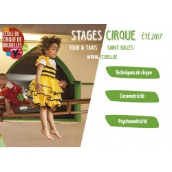 Stages d'été à l'Ecole de Cirque de Bruxelles